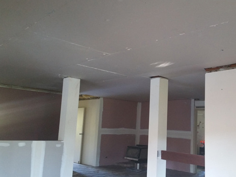 During | CEILING REPLACEMENT & WALL CLADDING (2)